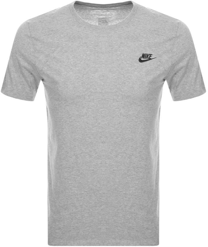 Nike Crew Neck Club T Shirt Grey