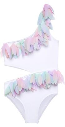 Stella Cove Kids' Multicolor Petal Side Cut Swimsuit