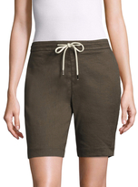 James Perse Pull On Linen Trouser Short