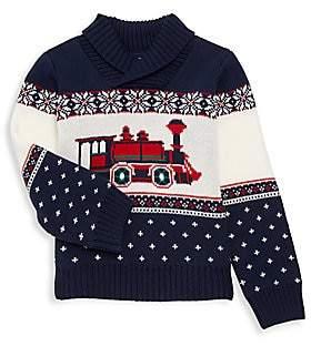 Janie and Jack Little Boy & Boy's Train Knit Sweater