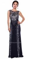 Atria Elegantly Embellished Applique Evening Dress