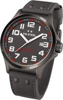 TW Steel Pilot TW421 Men's 48MM Dark Gray Leather Watch