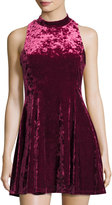 Romeo & Juliet Couture Crushed Velvet Fit & Flare Sleeveless Dress