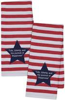 Design Imports Liberty Star Dish Towels (Set of 2)