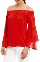 Antonio Melani Britt Pebble Crepe Off the Shoulder Blouse