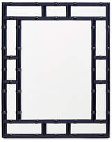 Worlds Away Bamboo Wall Mirror - Navy