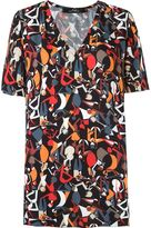 Andrea Marques abstract print blouse