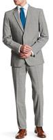 English Laundry Grey Glen Plaid Two Button Notch Lapel Suit