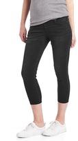 Maternity demi panel true skinny crop jeans