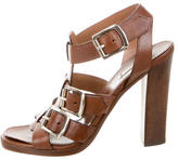 Alaia Leather Multistrap Sandals