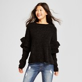 Mossimo Women's Chenille Ruffle Sleeve Pullover