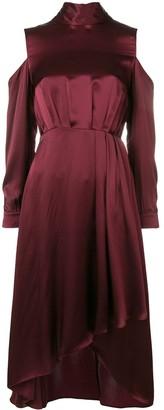 Diane von Furstenberg cold shoulder midi dress