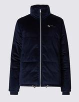 M&S Collection Velvet Padded Jacket