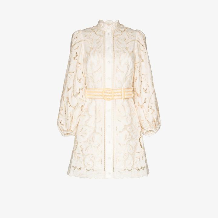 Zimmermann Empire broderie anglaise mini dress