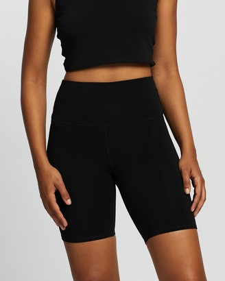 Nimble Activewear Women's Black Tights - Ribbed Bike Shorts - Size XXS at The Iconic