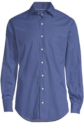 Peter Millar Block Island Dot Shirt