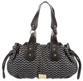 M Missoni Leather-Accented Woven Shoulder Bag w/ Tags