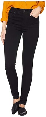KUT from the Kloth Mia High-Waisted Skinny Jeans in Black (Black) Women's Jeans