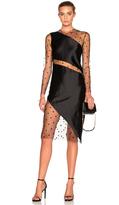 Michelle Mason Mesh Slant Dress