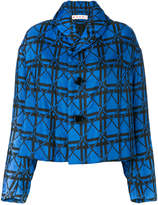 Marni geometric cropped jacket