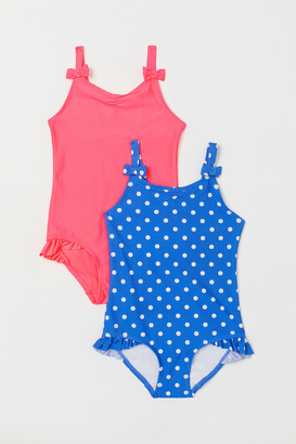 H&M 2-pack Ruffle-detail Swimsuits
