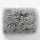 """west elm Mongolian Lamb Pillow Cover - Platinum (12""""x16"""")"""