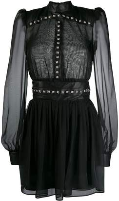 John Richmond sheer studded dress