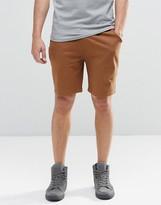Asos Jersey Shorts In Brown