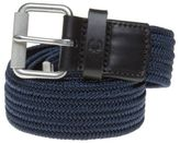 Fred Perry New Mens Blue Plain Woven Cord Polyester/Cotton Belt Belts