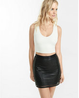 Express black liquid mesh high waisted skirt