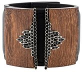 Marni Wood & Crystals Embellished Cuff