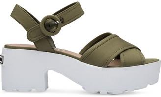 Miu Miu Crossover Strap Sandals
