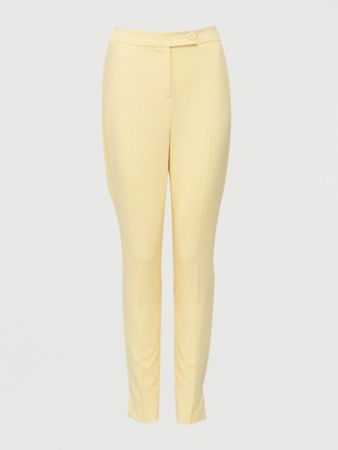 Very High Waisted Pastel Trouser - Yellow
