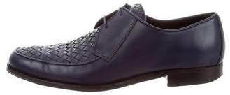 Bottega Veneta Intrecciato Woven Leather Derby Shoes
