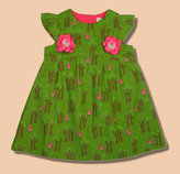 Green Print Jumper Dress