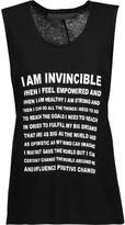 Norma Kamali Empower printed cotton-jersey tank