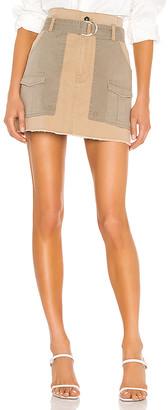 Frame Paperbag Multi Tone Skirt