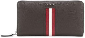 Bally Stripe Detail Long Wallet