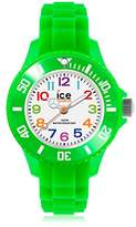Ice Watch Ice-Mini Children's Size Ice-Watch White Dial Colourful Numbers Green MN.GN.M.S
