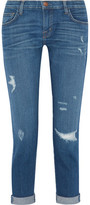 Current/Elliott The Fling Distressed Slim Boyfriend Jeans