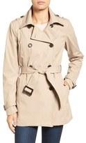 Larry Levine Women's Water Resistant Trench Coat