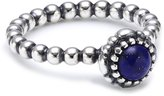 Pandora Authentic Silver Lapis Lazuli Birthday Blooms Ring Size 58 190854LP