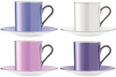 LSA International Polka Assorted Coffee Cups & Saucers - Set of 4 - Pastel
