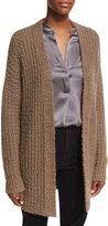 Vince Waffle-Stitch Open-Front Cardigan Sweater