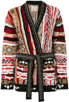 Laneus embellished intarsia-knit cardigan - women - Cotton - 40