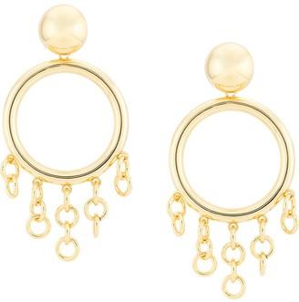 Cult Gaia Hoop Fringe Earrings
