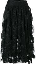 Simone Rocha jacquard tulle midi skirt - women - Polyamide/Polyester/Spandex/Elastane/Acetate - 8