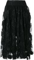 Simone Rocha jacquard tulle midi skirt - women - Polyester/Polyamide/Acetate/Spandex/Elastane - 8