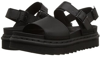 Dr. Martens Voss (Black Hydro Leather) Women's Sandals