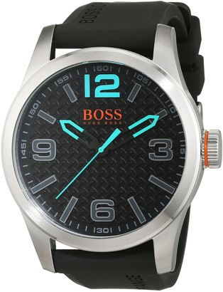 HUGO BOSS Boss Orange Men's Watch Paris Analogue Quartz Silicone 1513377
